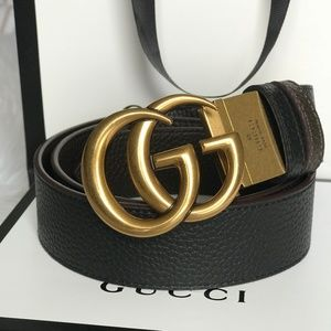 GUCCI REVERSIBLE MARMONT LEATHER BELT